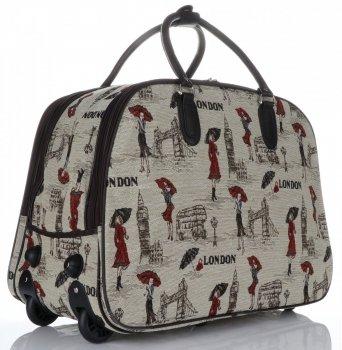 Cestovní taška na kolečkách s výsuvnou teleskopickou rukojetí Or&Mi London Multicolor