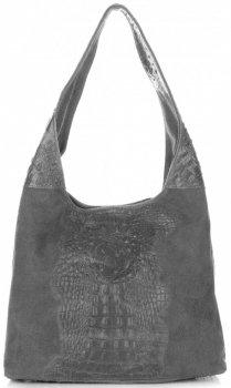 Kožené kabelky Aligator Šedá