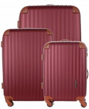 Kufry renomované firmy Madisson Sada 3v1 bordové