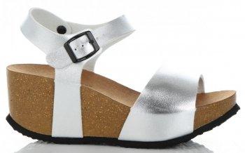 Dámské boty na platformě Stříbrné