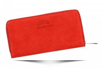 Vittoria Gotti Dámská Kožená Peněženka Made in Italy Červená