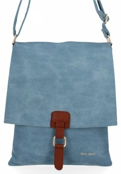 BEE BAG Módní Dámské Kabelky Listonošky XL Napoli Světle Modrá