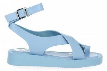 Modré dámské sandály na platformě Givana