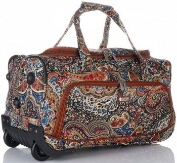 Velká Cestovní taška na kolečkách s teleskopickou rukojetí renomované firmy Madisson Multicolor - Tmavě modrá