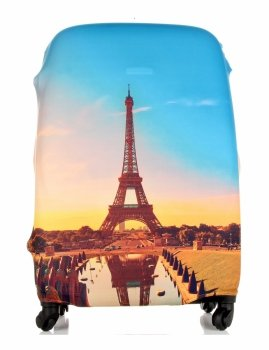 Obal na kufr Snowball M size Paris Multicolor