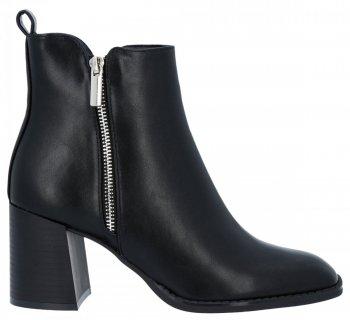 Černé kotníkové boty na podpatku Melanie