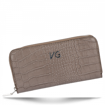 Vittoria Gotti Elegantní Dámská Kožená Peněženka s motivem aligátora Zemitá