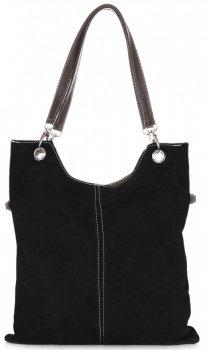 Univerzální Kožené kabelky Černá
