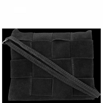Vittoria Gotti Univerzální Kožená Kabelka Módní Listonoška Černá