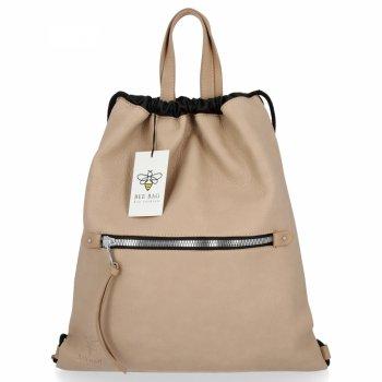 BEE BAG Univerzální Dámská Kabelka Shopper Bag Beatrice Tmavě Béžová