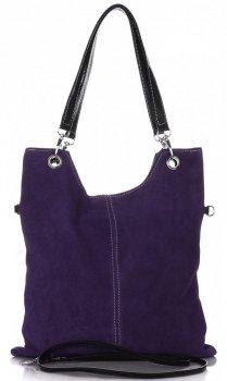 Univerzální Kožené kabelky purpurová