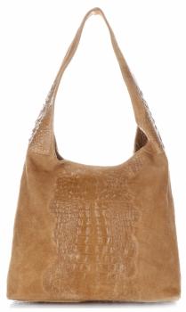 Kožené kabelky s motivem Aligator zrzavá