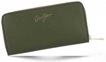 Vittoria Gotti Elegantní Dámská Kožená Peněženka Made in Italy Zelená