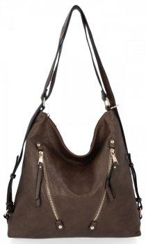 Univerzální Dámská Kabelka Grace Bags Batoh Khaki