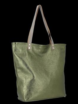 Módní Kožené Dámské Kabelky Shopper Bag Vittoria Gotti Zelená