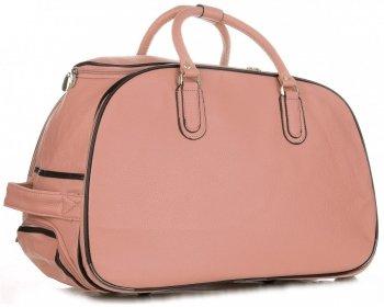 Cestovní taška na kolečkách s výsuvnou rukojetí Or&Mi Prášková růžová