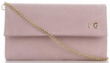 Kožená Kabelka Psaníčka Vittoria Gotti Elegantní Listonoška Made in Italy Prášková Růžová