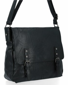 BEE BAG Velká Kabelka Listonoška Adelia Vintage Style Černá