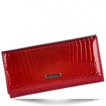 Elegantní Dámská Kožená Peněženka XL s motivem aligátora červená