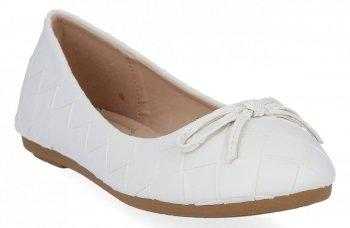 Bílé módní dámské baleríny Sergio Todzi