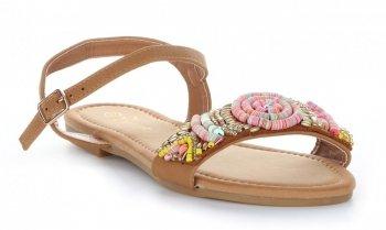 módní dámské sandály béžové