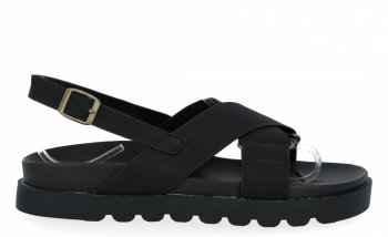 Černé univerzální dámské sandály Givana