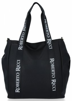 Univerzální a Módní Dámské Kabelky Roberto Ricci Černá