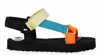 Oranžové módní dámské sandály Bellucci