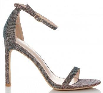 Modní Dámské Sandály na podpatku Ideal Shoes Multicolor