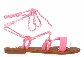 Fuchsiové univerzální dámské sandály Givana