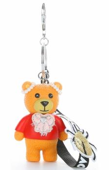 Přívěšek ke kabelce Hipster medvídek z kaučuku zrzavý