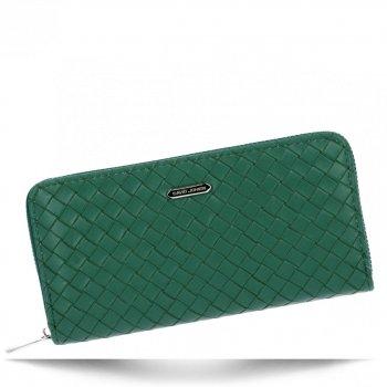 Módní Dámská Peněženka XL David Jones Zelená