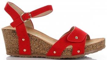 Módní Dámské Boty Na Platformě Lady Glory Červené