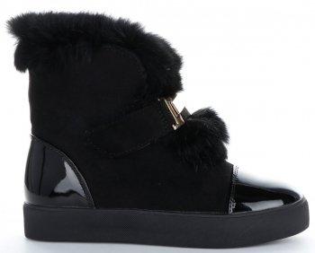 Módní Dámské Sneakersy boty sněhule Sergio Todzi černé