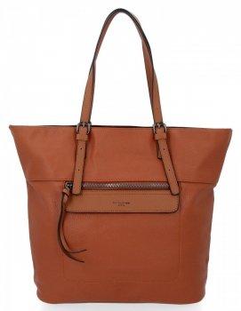 Univerzální Dámské Kabelky David Jones Shopper Bag Zrzavá