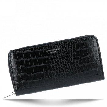 Elegantní Dámská Peněženka s motivem aligátora David Jones Černá