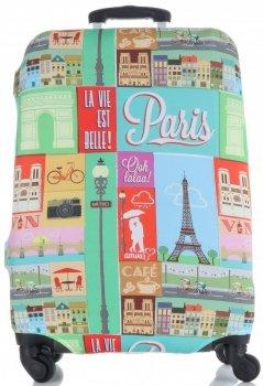 Obal na kufr Snowball L size Paris vícebarevný