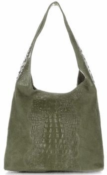 Kožené kabelky Aligator Zelená
