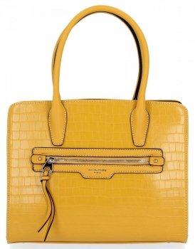 Módní Dámská Kabelka Elegantní Kufřík motiv želvy David Jones Žlutá