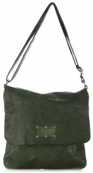 Kožená kabelka listonoška Vintage Gebuine Leather Tmavě Zelená