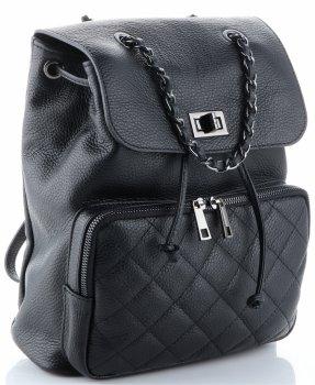Elegantní Batůžek Genuine Leather černý