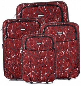 Kufry renomované firmy Madisson Sada 4v1 multicolor - červené