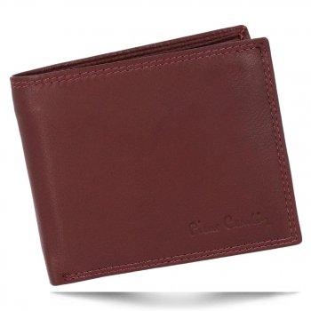 Klasická Pánská Kožená Peněženka Pierre Cardin Bordová