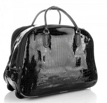 Cestovní taška na kolečkách s výsuvnou rukojetí Or&Mi Aligátor Černá