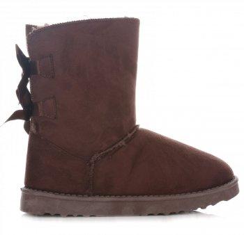 Dámské boty sněhule hnědý