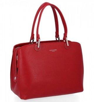 Elegantní Dámská Kabelka Kufřík David Jones Červená