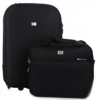 Kufry David Jones Sada 2 v 1 černý