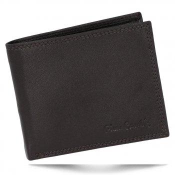Klasická Pánská Kožená Peněženka Pierre Cardin Čokoládová