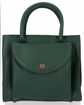 Elegantní Kabelka Kufřík Listonoška Diana&Co Lahvově Zelená