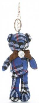 Přívěšek ke kabelce Džínový medvídek kostka tmavě modrá